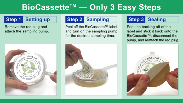 Air Sampling with BioCassette in Only 3 Steps